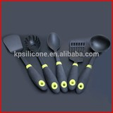 Nylon kitchenware cooking utensils sets with TPR handle