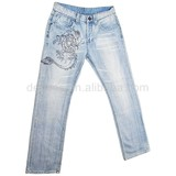 CJ-016-E1 oem manufacturer washed jeans brand name women's clothing