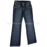 CJ-037-E1 high quality cotton jeans fabric ladies fashion clothing