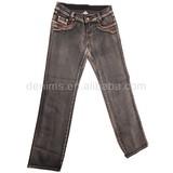 CJ-043-E1 good quality fabric ladies long clothing design denim jean pant