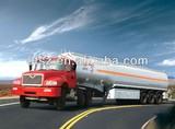 Aluminium alloy oil tank semitrailer