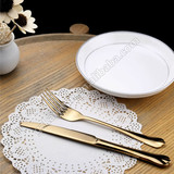 Gold dining spoons,golden silver spoon,color cutlery set spoon