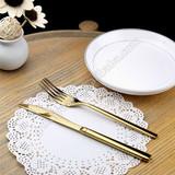 gold silverware,gold dinnerware,gold cutlery