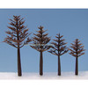 Plastic tree trunks with different heights for model architectural and train model