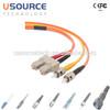 Telecom Industrial MultiMode SC ST duplex fiber patch cord