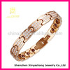Gold Stainless Steel Bracelet with Zircon for Ladies