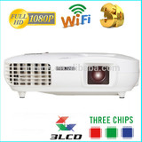 2014 New arrival 3LCD 1080P 3000 high lumen led projector/rear projector passive 3d