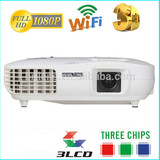 Hot sale Native 1920 X 1080 98W LED Lamp 3LCD 3000 Lumens movie theater projectors for sale