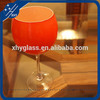 Goblet Juice Glass With Printing/Drinking Glass/Glassware