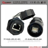rj45 female connector lan cable cable and connectors, with rubber cable cover