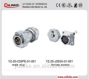 Oxygen connector medical 5 Pin Metal connector