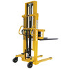 1000kg Hand Manual Stacker 1600mm Lifting Height