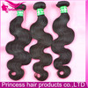 100% natural unprocessed shedding and tangle free wave virgin brazilian hair