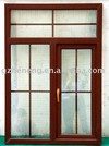 PVC Casement Window W-P1; wooden color