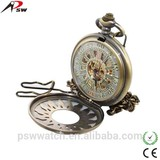 sunflower shape big face elegance pocket watch mechanical movt chains for pocket watch