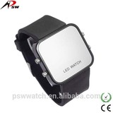 china supplier square shaped kid silicone led watch