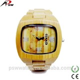 Japan quartz movement DIY hand wood watch bamboo wood watch