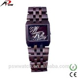luxury auto date branded sandal wholesale wood watch men wood watch