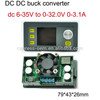 OEM NC DC-DC 12V to 5V adjustable voltage reduction module dc buck converter with LCD / shell / fan