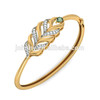 Fashion Leaf Shaped Bangle With Zircon