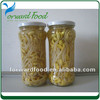 canned soybean sprouts in glass jars