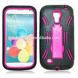 2 in 1 high quality armor case for Samsung galaxy S4 mini various color