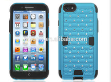2014 2 in 1 armor case diamond for iphone 6 12 colors wholesale