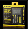 Nitecore D4 LCD charger IMR/Lifepo4/NiMh/NiCd AA AAA battery charger nitecore d2/nitecore charger Nitecore D4