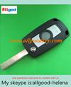 New key! BMW key blank for BMW 3 button flip modified remote key shell HU92 blade/car key/auto blank key