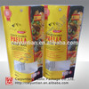 plastic stand up pouches for rice packaging, 200g rice package bags with ziplock