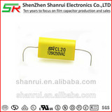 CL20 MEA MET Metallized Polyester Film capacitors-Axial 126K 250VAC
