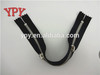 black closed end zippers with double sliders(head to head) from china