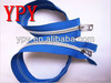 5# Double Slider Nylon Zipper with Sliver Teeth
