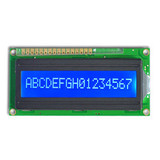 16x1 character lcd module display support serial parallel interface