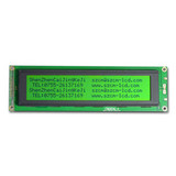 40x4 character lcd module display with LED backlight