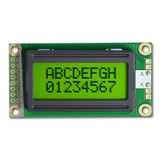 8x2 STN character lcd module display with LED backlight