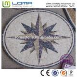 Fashion design mosaic medallion, marble mosaic medallion