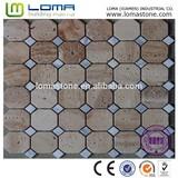 High quality and hot sale travertine stone mosaic, stone mosaic