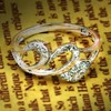 Clear CZ Stone Pave Setting Sterling Silver 925 Vintage Engagement Ring