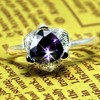 Triangle Shaped Purple Gemstone Wholesale S 925 Rings