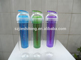 Super High Quality BPA free Fruit infuser, fruit infuser water bottle,plastic lemon juicer