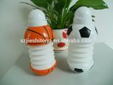 Hot sell Eco-friendly BPA free football shape foldable water bottle