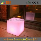 Colorful Light Up Cube Chair With 16 Colors And Rechargeable Battery