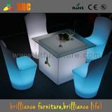 Color changable LED lit club desk with remote control