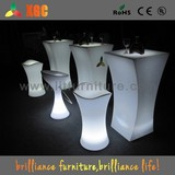 plastic high top cocktail table/light up cocktail table
