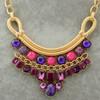 OU4778 binca jewelry factory,Goldtone Silvertone Multicolor Stone Beads Bib Fashion Pendant Necklace
