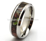 Stainless steel/Titanium/Tungsten Camo Ring Jewelry