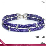2014 Lastest Fashion Purple Stingray Bracelet,High Class Genuine Bracelet,TOP Level Stingray Leather Bracelet For Men