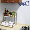 Kitchen dishes rack with drain tray
