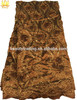 beaded raw coffee silk george for africans new design in 2014